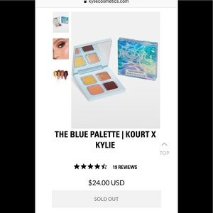 Kylie Cosmetics Kylie X Kourt The Blue Palette